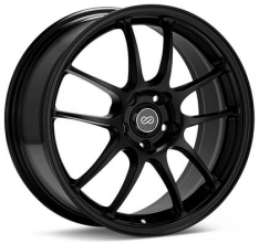 Enkei 460-8105-6615BK PF01 18×10.5 5×114.3 15mm Offset 75mm Bore Black Wheel