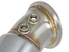 AFE 48-36317-HC Downpipe Twisted Steel Down-Pipe Street Series 16-17 BMW 340i/440i (F3X) L6-3.0L / 2019+ Toyota Supra