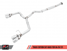 AWE Tuning 3020-43066 Subaru WRX/STI VA/GV Sedan Track Edition Exhaust – Diamond Black Tips (102mm)