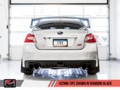 AWE Tuning 3020-43066 Subaru WRX/STI VA/GV Sedan Track Edition Exhaust – Diamond Black Tips (102mm)