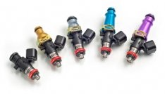 Injector Dynamics 1340cc Injectors-48mm Length-14mm Grey Top-14mm L O-Ring(R35 Low Spacer)(Set of 6)