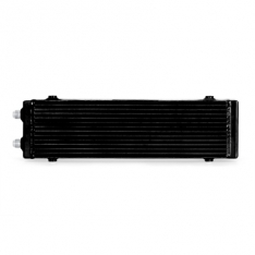 Mishimoto MMOC-DP-LBK Universal Large Bar and Plate Dual Pass Black Oil Cooler