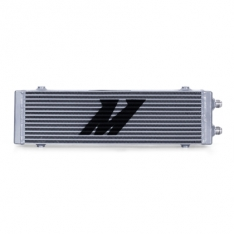 Mishimoto MMOC-DP-LSL Universal Large Bar and Plate Dual Pass Silver Oil Cooler