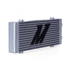 Mishimoto MMOC-DP-MSL Universal Medium Bar and Plate Dual Pass Silver Oil Cooler