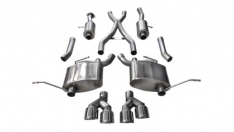 Corsa 14992 14-19 Jeep Grand Cherokee Summit Edition Polished 2.5in Dual Rear Exit Cat-Back Exhaust