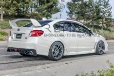 Remark RO-TSVA-D Axle Back Exhaust Muffler Delete Stainless Double Wall Tips Subaru WRX / STI 2015+