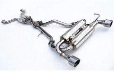 Invidia HS09N7ZGIS 09+ 370Z Gemini Rolled Stainless Steel Tip Cat-back Exhaust