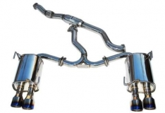 Invidia HS15STIG2T 15+ Subaru STI 4Dr Q300 Single Layer Titanium Burnt Quad Tip Cat-Back Exhaust