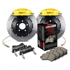 StopTech 83.B38.0058.81 14-15 BMW M3 / M4 Rear BBK w/ Yellow ST-40 Calipers Slotted 380x32mm Rotors