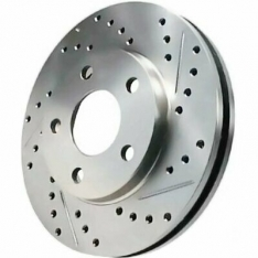 Stoptech 227.47022L C-Tek Sport Drilled and Slotted Rotor Single Front Left Subaru STI 2005-2017
