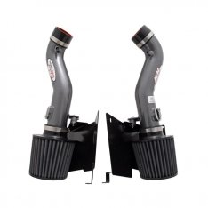 AEM 21-677C 07-08 350z Silver Dual Inlet Cold Air Intakes w/ Heat Sheilds