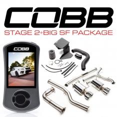 COBB Tuning SUB004NW2P Stage 2 + Big SF Power Package (Non-Resonated J-Pipe) Subaru WRX 2015-2020 6MT