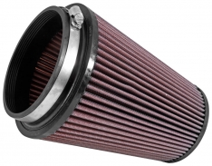 K&N RU-2805XD Filter Universal Clamp-On Air Filter 5in Flange / 6-1/2in Base / 4-3/8in Top / 8in Height