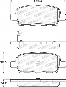 StopTech 309.09052 Sport Performance Nissan 370z Brake Pads