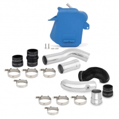 Mishimoto 11-16 Ford 6.7L Powerstroke Air-To-Water Intercooler Kit – Wrinkle Blue w/ Polished Pipes