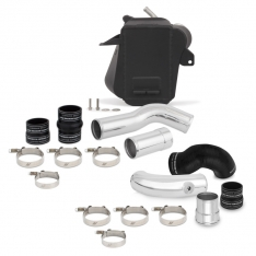 Mishimoto 11-16 Ford 6.7L Powerstroke Air-To-Water Intercooler Kit – Wrinkle Black w/ Polished Pipes