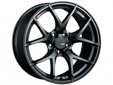 SSR GTV03 18×9.5 5×114.3 22mm Offset Flat Black Wheel Evo 8 9 X / G35 / 350z / 370z