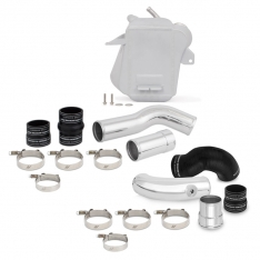 Mishimoto 11-16 Ford 6.7L Powerstroke Air-To-Water Intercooler Kit – Wrinkle Silverw/ Polished Pipes