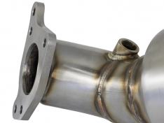 aFe 48-36604-HC Twisted Steel Down-Pipe w/ Cat (Street) 16-20 Honda Civic 1.5L (T)