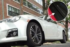 Rally Armor 13+ Subaru BRZ / 13+ Scion FR-S UR Black Mud Flap w/ Grey Logo