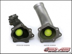 AMS AMS.04.05.0001-1 Performance 08-15 Mitsubishi EVO X Widemouth Downpipe w/Turbo Outlet Pipe