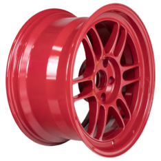 Enkei 3797906522RD RPF1 17×9 5×114.3 22mm Offset 73mm Bore Competition Red Wheel
