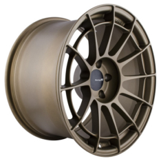 Enkei 512-8105-6515GG NT03RR 18×10.5 5×114.3 15mm Offset 75mm Bore Titanium Gold Wheel
