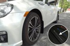 Rally Armor 13+ Subaru BRZ / 13+ Scion FR-S UR Black Mud Flap w/ Silver Logo