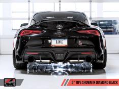 AWE 3015-33132 Resonated Touring Edition Exhaust for A90 Supra – 5″ Diamond Black Tips