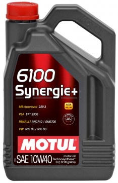 Motul 5L Technosynthese Engine Oil 6100 SYNERGIE+ 10W40 4X5L