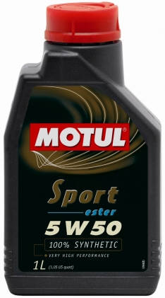 Motul 1L Synthetic Engine Oil Sport 5W50 12X1L API SM/CF