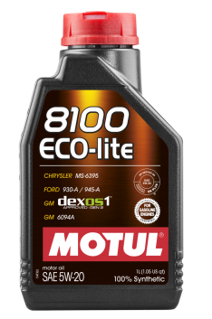 Motul 1L Synthetic Engine Oil 8100 5W20 ECO-LITE