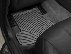 WeatherTech 2015+ Ford F-150 SuperCab Rear Rubber Mats – Black