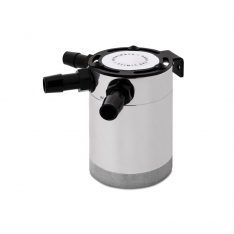 Mishimoto MMBCC-CBTHR-P Compact Baffled Oil Catch Can – 3-Port – Polished