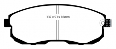 EBC 02 Infiniti G35 3.5 w/o DCS Bluestuff Front Brake Pads