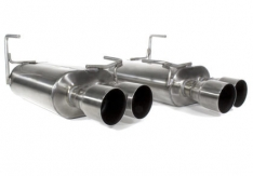Perrin PSP-EXT-351BR 11+ Subaru STi/WRX Sedan Brushed Dual Tube Cat-Back Exhaust w/ Quad Straight Cut Tips