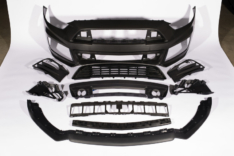 ROUSH 421843 2015-2017 Ford Mustang Complete Unpainted Front Fascia Kit (w/o Collision Detection & ACC)