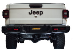 Gibson 2020 Jeep Gladiator JT Rubicon 3.6L 3in/2.5in Cat-Back Dual Split Exhaust – Black Elite