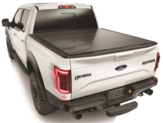 WeatherTech 2020+ Jeep Gladiator w/Trail Rail Management Sys AlloyCover Hard Truck Bed Cover – Black