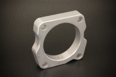 Torque Solution Throttle Body Spacer (Silver): Honda S2000 06+ AP2
